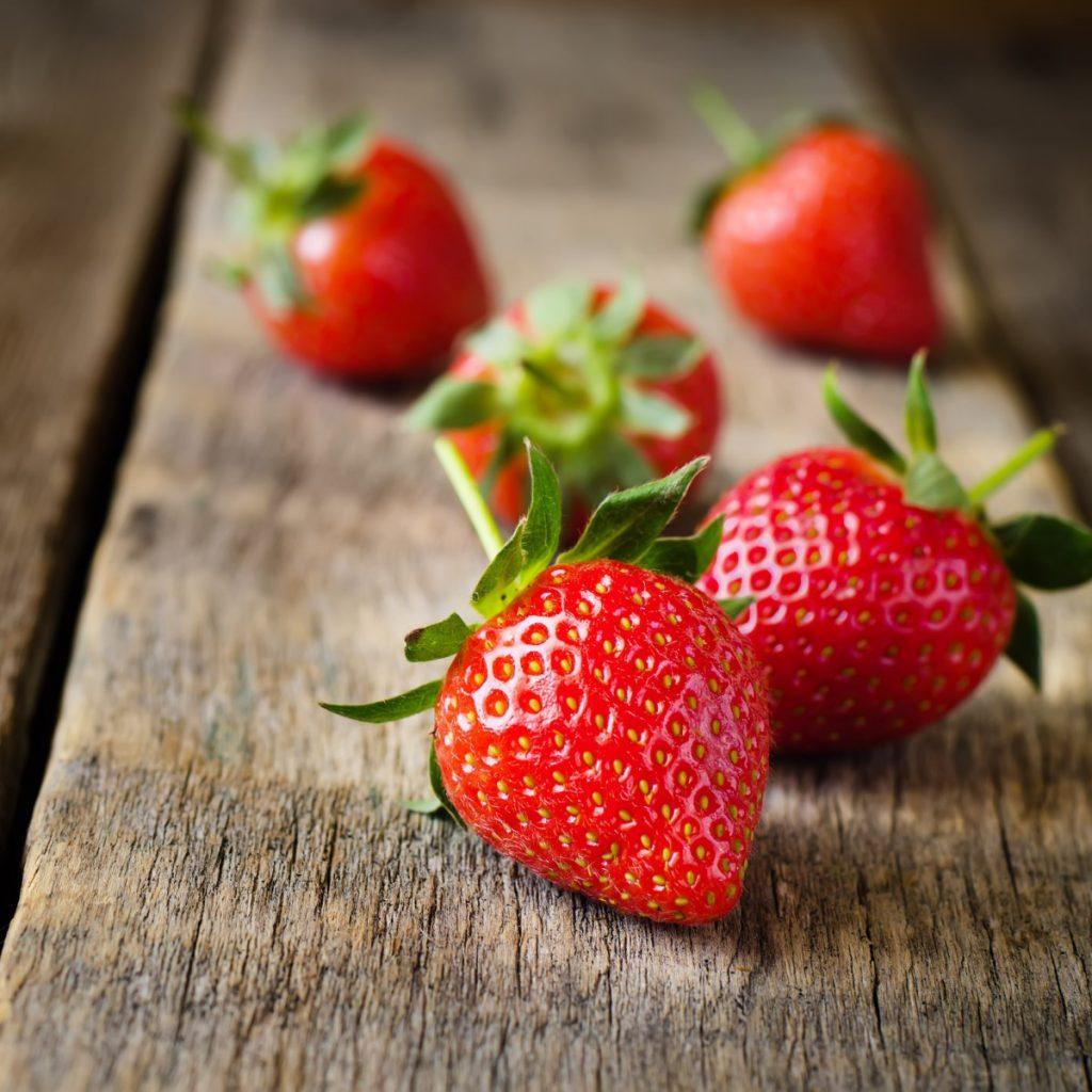 hunter fresh produce freshly picked strawberries